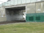 SEPTA Graffiti REmoval: 2/14/12 - PENNDOT's E Mt Airy Ave Bridge