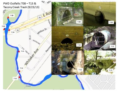 PWD Outfalls & Tacony Creek Trash