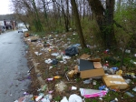 5200 Block Magnolia St: Chronic dumping site previously reported to City