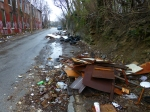 400 Block Collom St: Chronic illegal dumping site.  Multiple previous cleanups by City.