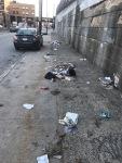Street Litter - looks like residential trash bag opened and spilled